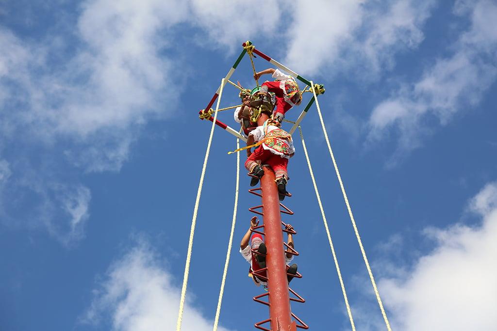 Aerial Papantla dancers