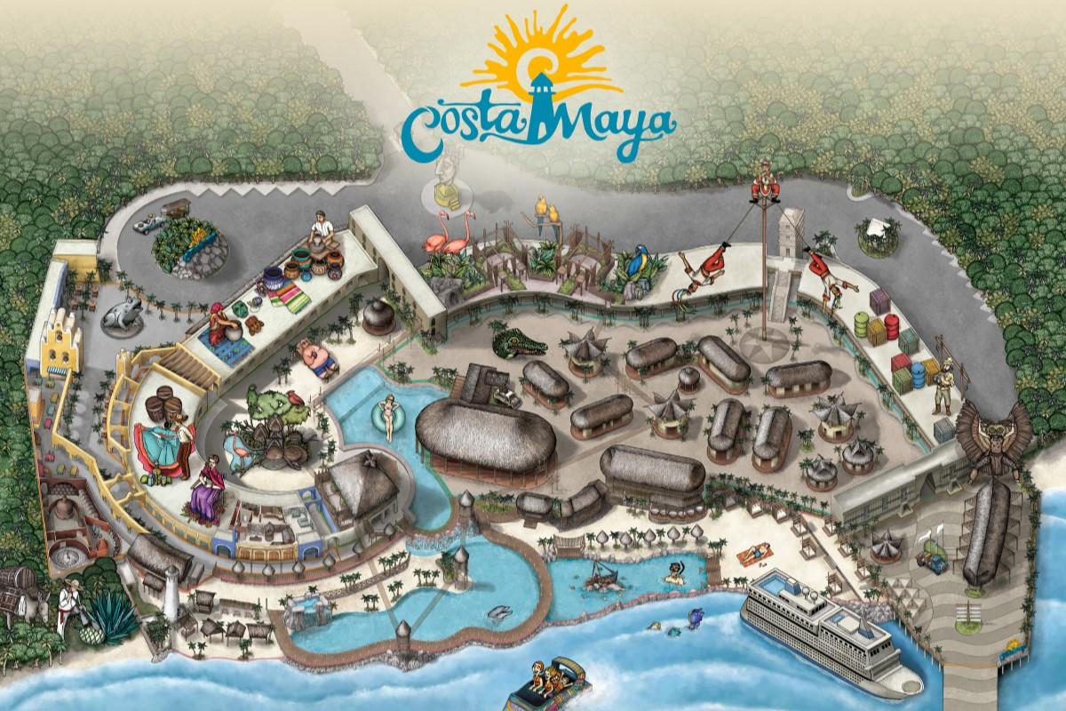 Costa Maya Port Map